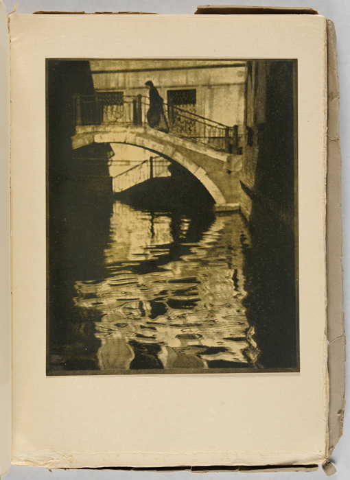 Alvin Langdon Coburn, American, 1882–1966; Bridge, Venice, 1908, from Camera Work, Vol. 21, 1908, photogravure; Carnegie Museum of Art, Gift of the George H.