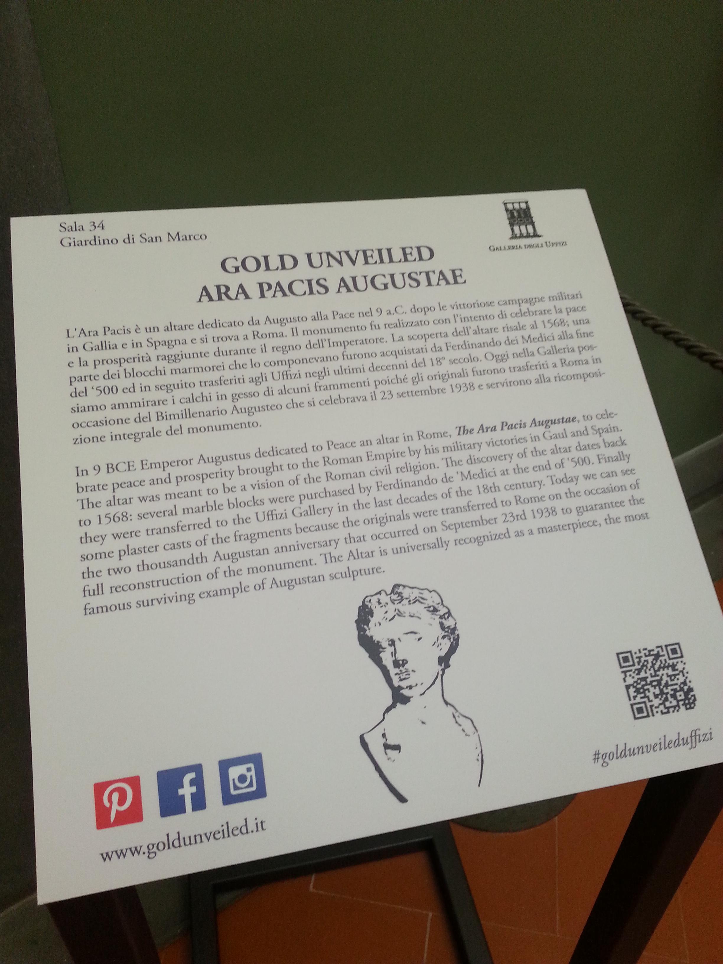 Gold unveiled Uffizi