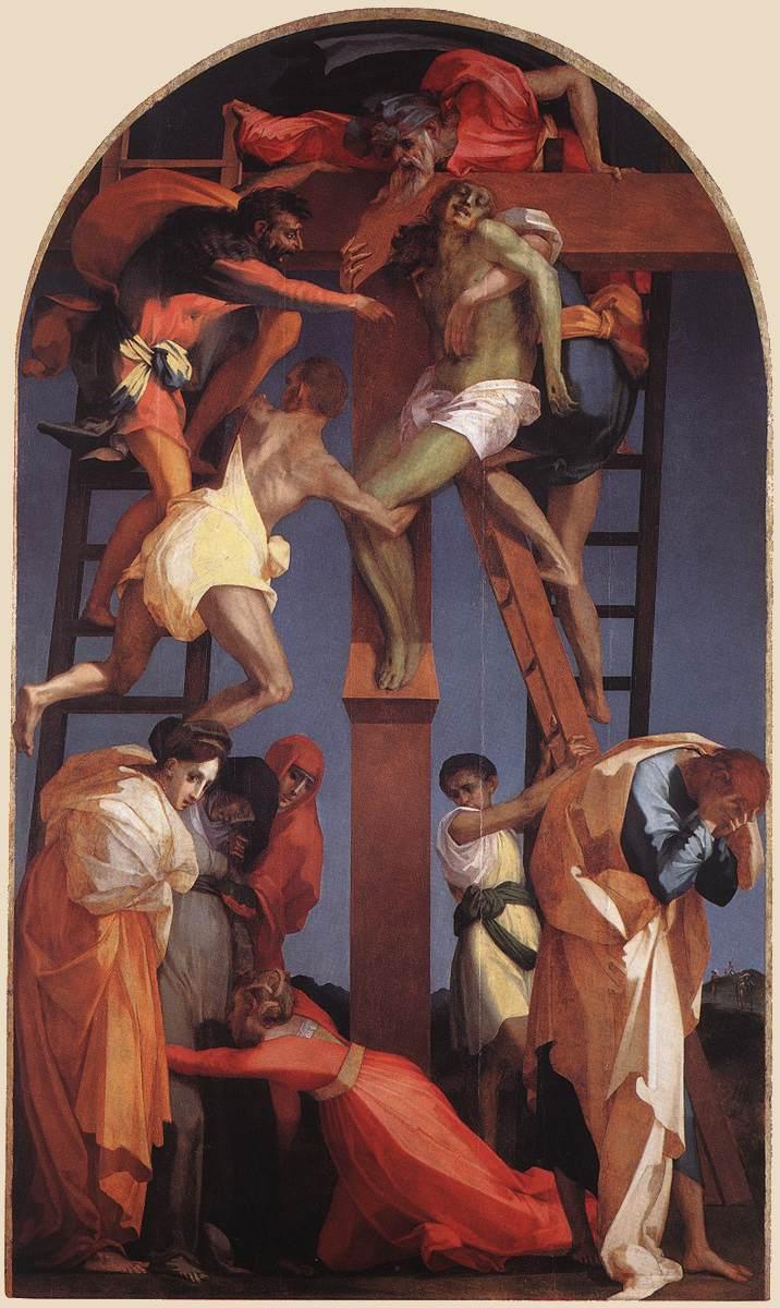 """""""La Deposizione dalla Croce"""" (1521), Rosso Fiorentino, Pinacoteca Civica"""