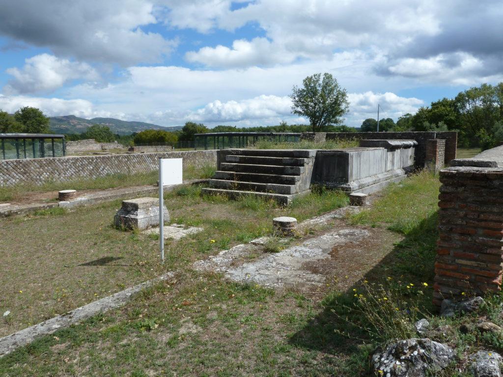 Tempio A (III - V sec. d.C.), Grumentum
