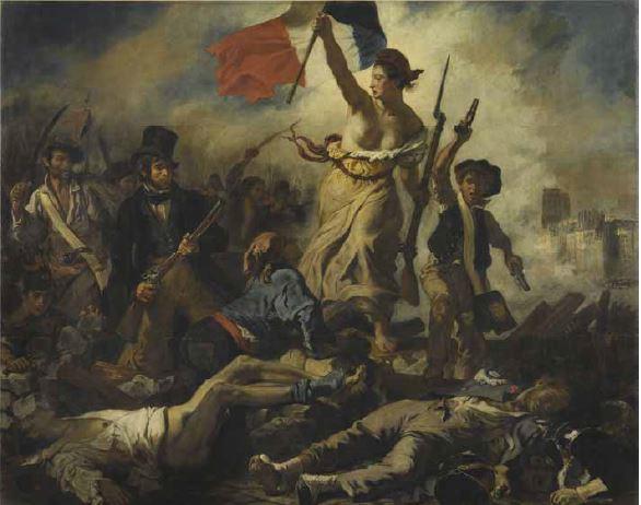 Eugène Delacroix, July 28, 1830: Liberty Leading the People. 1830. 1831 Salon. Oil on canvas. 260 x 325 cm. Musée du Louvre, Paris © RMN-Grand Palais (musée du Louvre) / Michel Urtado