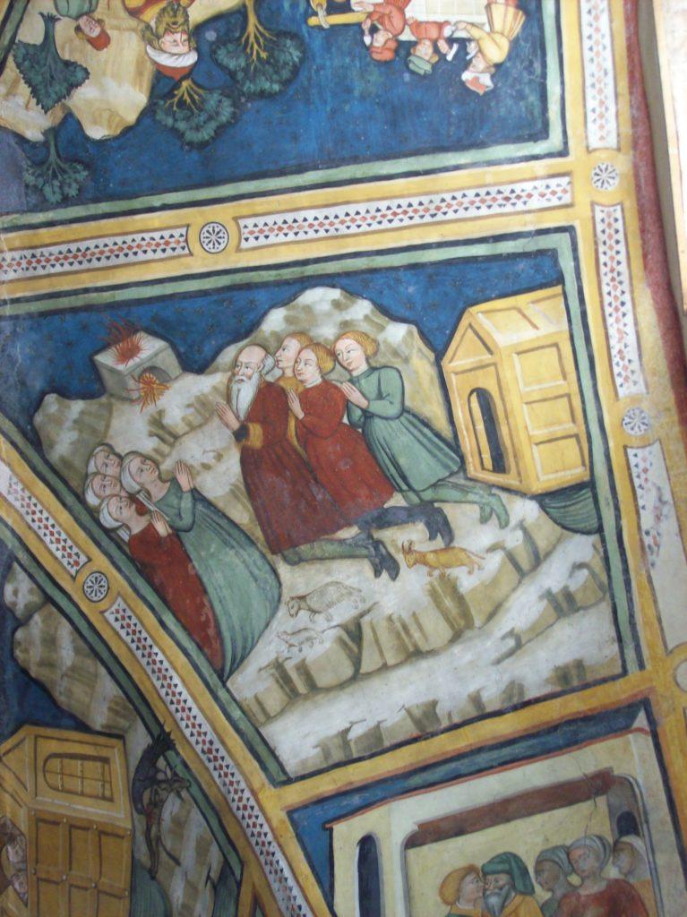 affreschi opera di Antonello Palumbo di Chiaromonte sul Sinni e Nicola da Novi, Santuario di S. Donato, Ripacandida