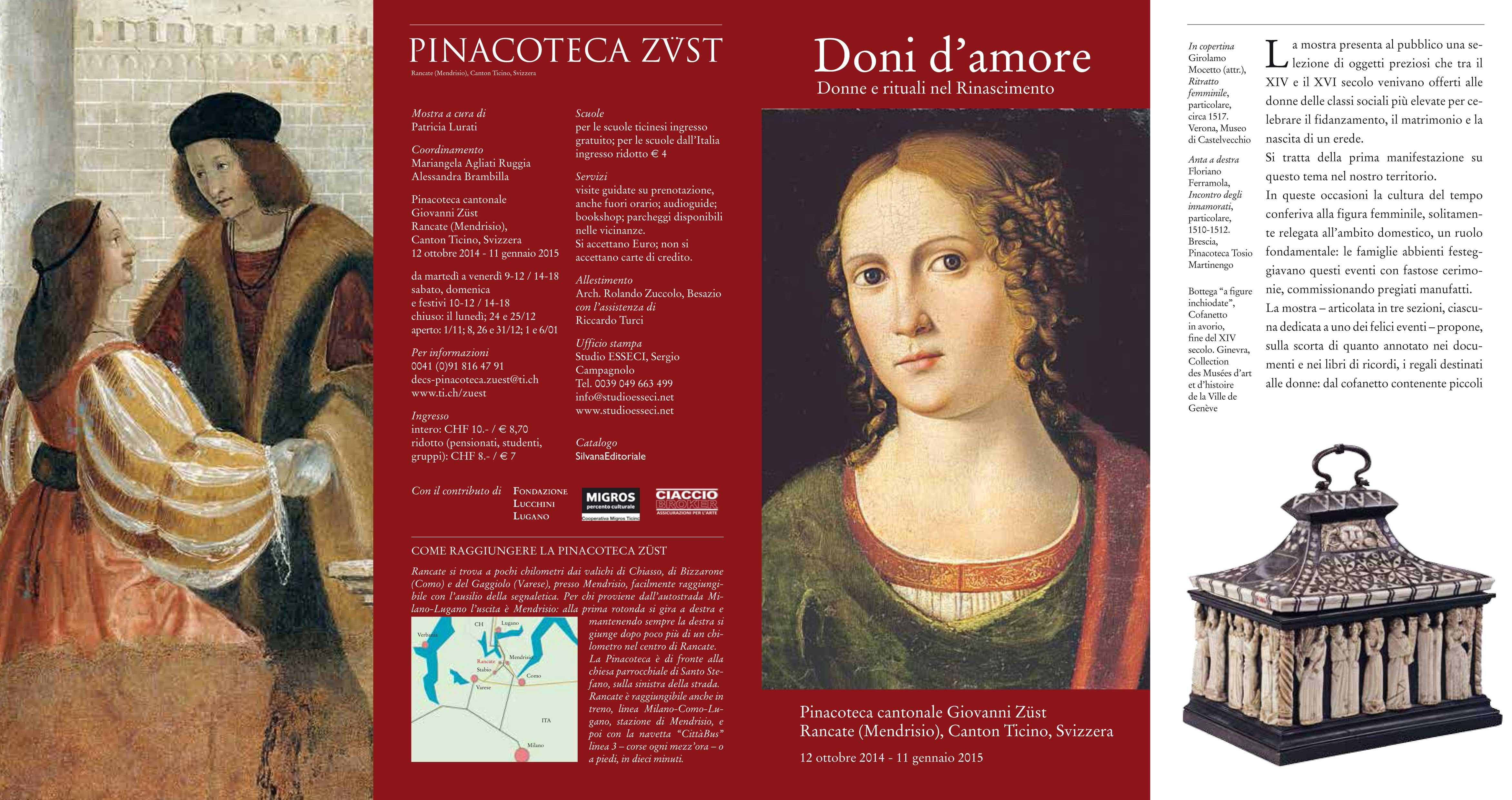 DONI D'AMORE  Pinacoteca Züst 2014