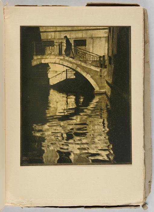 Alvin Langdon Coburn, American, 1882–1966; Bridge, Venice, 1908, from Camera Work, Vol. 21, 1908, photogravure; Carnegie Museum of Art, Gift of the George H.