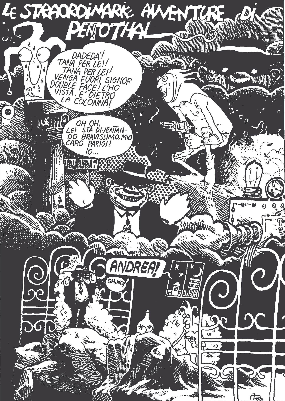 """""""Le straordinarie avventure di Pentothal"""", 1977, copyright Eredi Andrea Pazienza/ Fandango"""
