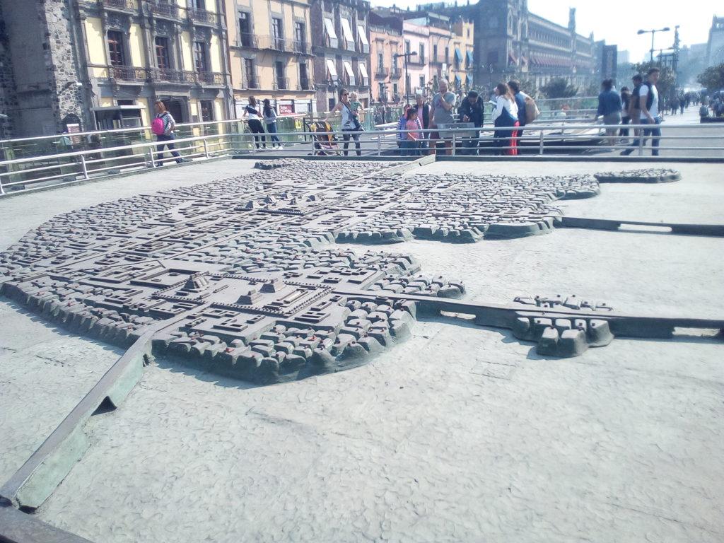 Ricostruzione di Tenochtlan, Zocalo, Città del Messico
