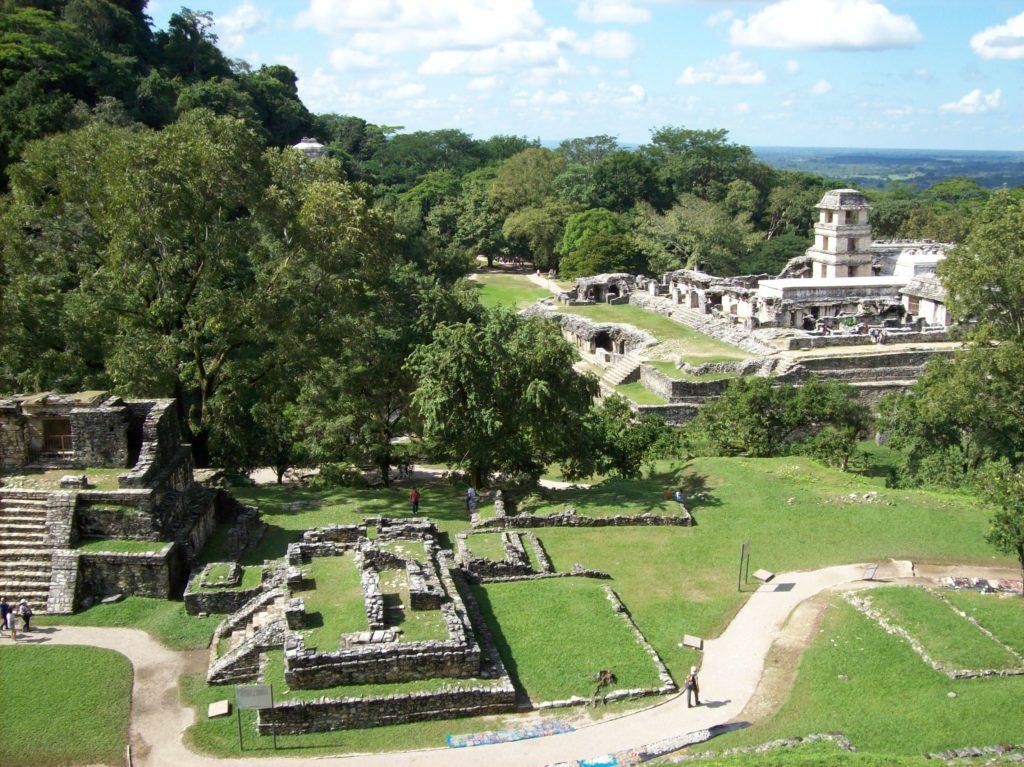 Vista dal Tempio della Croce,  Palenque, Chiapas, Messico