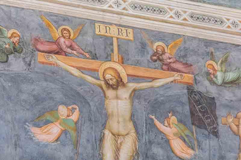 Oratorio di San Giorgio Padova Affreschi Altichiero da Zevio particolare Crocifissione foto Giovanni Pinton